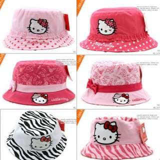 New Sweet Kids Toddler Girls Kitty Bucket Sun Hat Cap You Pick Style
