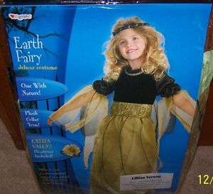 NIP Size M 7/8 Girls Earth Fairy Deluxe Child Costume