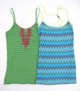 You are bidding on a LOT 2 FREE PEOPLE Spaghetti Strap Tanks Shirts in