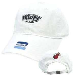 NBA Elevation Miami Heat White Black Womens Ladies Team Hat Cap Cotton