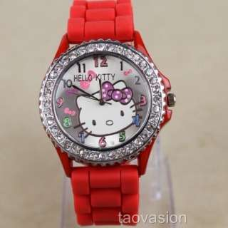 1Pcs Hellokitty Silicone Band Quartz Wrist Watch For Unisex 10 Color