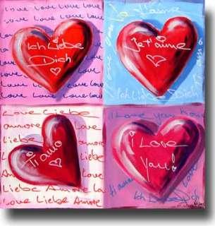 DENGLER ART Bild Sweet Love Hearts Gemälde v. Künstler