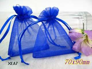 50pcs Sheer Mixed Organza wedding Jewelry packing favor gift bags