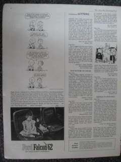 1962 Ford Falcon Car Ad Peanut Cartoon Charlie Brown