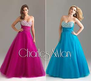 line Tulle Quinceanera/Ball gown/Evening/Prom dress/SZ 6 8 10 12 14 16