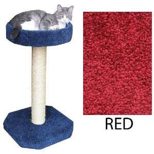 Cat Scratching Post   With Loft Bed   Red (Red) (33H x 19