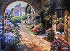HOWARD BEHRENS UNDER THE TUSCAN SUN ITALY HAND EMBELLISHED BY ARITST