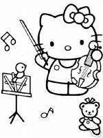 25 * Hello Kitty * Malvorlagen  Set 4