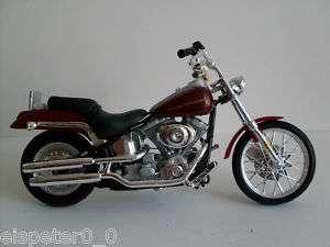 Harley Davidson Modell,Softail rotbraun,Maisto 118