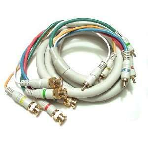 6 5 BNC TO 5 RCA HDTV CABLE Electronics