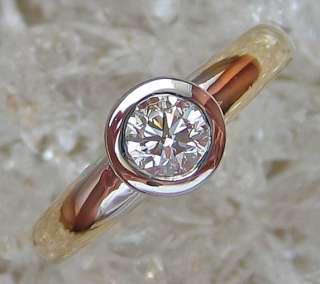 Goldringe Halbkaräter Brillant Schmuck Solitär 14kt 585 Gold Ring