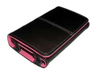 Premium Pink Leather Wallet Case for iPhone 2G 3G 3GS