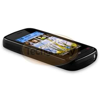 Black TPU Gel Case Cover Skin for Nokia C5 03 Mobile