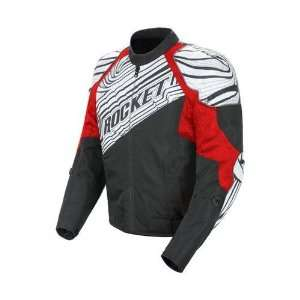 JOE ROCKET MENS FALLOUT MOTORCYCLE JACKET red/white