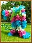 rainbow Chiffon Organza cabaret Drag queen Ruffle Coat