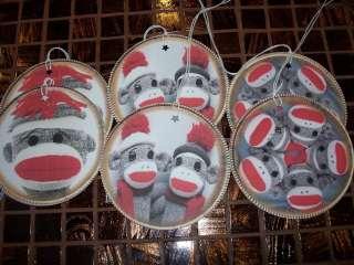 Sock Monkey ROUND Tags Hang / Gift Tags (727)