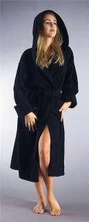 Womens Hooded Turkish Terry Cotton Bathrobe S M L XL +