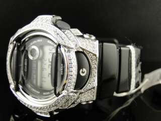 BRAND NEW G SHOCK BABY G LADIES WOMENS WHITE SIMULATED DIAMOND WATCH