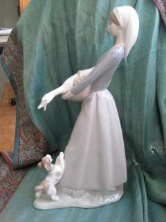 Lladro Girl with Goose and Dog Retired 4866 & Orig. Box