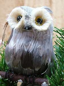 New Feather Horned Owl Bird Animal Christmas Ornament