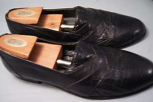 Stacy Adams Loafers Black Snake 8 M Mens Dress Shoes