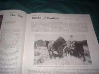NICE JAN 1935 HUNTING & FISHING MAG WILLIAM EATON COVER