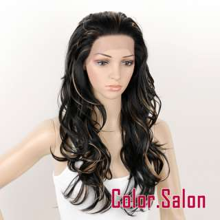 HAND TIED Synthetic Hair LACE FRONT FULL WIGS Curly GLUELESS HEAT SAFE