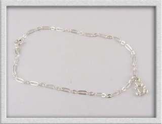 Sterling Silver Link Chain TEDDY BEAR Charm BRACELET