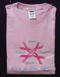 Breast Cancer Pink Ribbon Sister Friend Pink T Shirt 2X