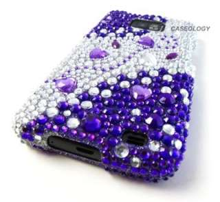 PURPLE SILVER DIAMOND HARD CASE COVER ATT SAMSUNG GALAXY S II i777