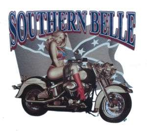 Biker logo Southern Belle PinUp Choppers T Shirt