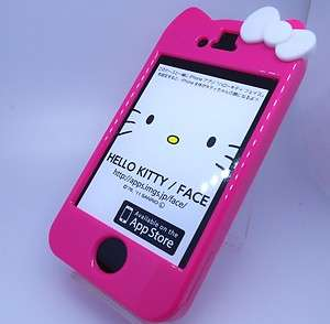 Pink Hello Kitty Bow Logo Hard Case Cover For iPhone 4 / 4gs