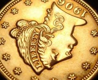 1906 $2 1/2 Liberty Head Gold Coin Quarter Eagle RARE