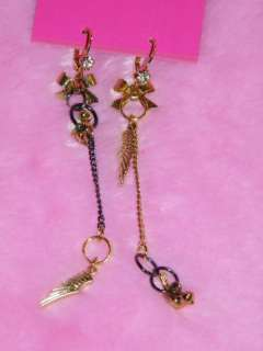 BETSEY JOHNSON * MixMatch Angel Wing Bird Earrings *