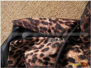 Women Sexy Leopard Grain Sleeveless Dress With Belt New