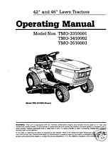 Montgomery Ward Lawn Tractor Operating Manual