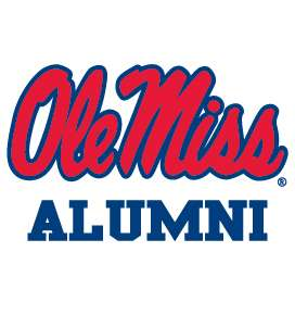 OLE MISS REBELS ALUMNI clear decal sticker Mississippi