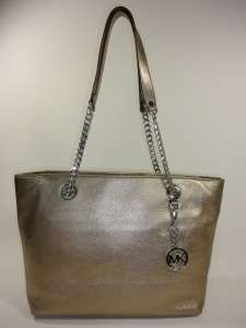 KORS E/W BRONZE Leather JET SET CHAIN ITEM Large SHOULDER BAG TOTE