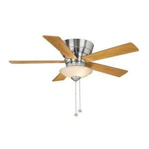 Hampton Bay Andross 48 in. Brushed Nickel Ceiling Fan 14939 at The