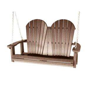 Vifah Roch Recycled Plastic Weather Wood Outdoor Adirondack Swing