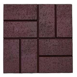 Home Depot   6 Pcs. Deep Red Brick Pattern Resin Patio Pavers customer