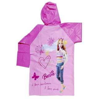 MTs57 Barbie Girl Kids PVC Raincoat Clothing