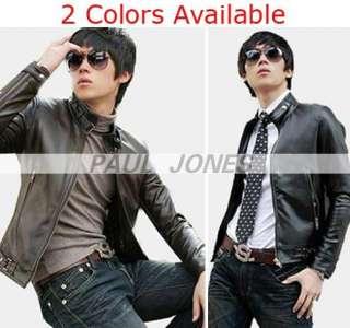 Slim Designed Sexy PU Leather Like Short Jacket Coat 2 Color 4 US SIZE