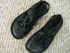Born Womens Shoes Sandals Black US 6 M EUR 36.5 Flat