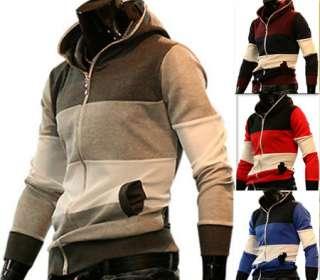 NWT Mens Slim Fit Hoody Jacket Coat 4 color 4 size H0341