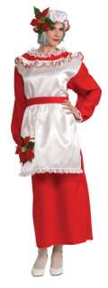 Mrs. Poinsettia Claus Adult Costume Contains mop hat with attached