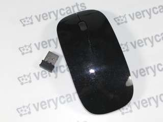 Optical Wireless Mouse PC USB For Apple Mac / WINDOWS 7   Black