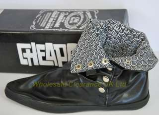 WHOLESALE CLEARANCE MENS CHEAPO BLACK POPPER ANKLE BOOT