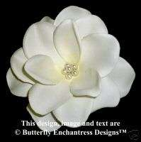 Pearl Ivory Gardenia Flower Bridal Hair Clip Wedding