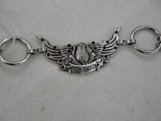 Harley Davidson Ladies Roses & Wings Chain Belt
